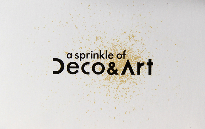 a sprinkle of art and deco branding design